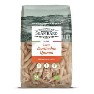 penne rigate farro lenticchie quinoa